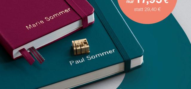 Leuchtturm – Notizbuch mit Namensprägung und Bleistift für nur 17,95 €! Kontaktiert uns gerne!