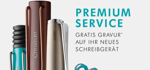 Vom 16.11. bis 7.12.20 bieten wir unseren Kunden eine kostenlose Gravur beim Kauf eines Lamy – Schreibgeräts ab € 25.– Einen gravierten Kugelschreiber oder Tintenroller verschenken? Warum nicht?